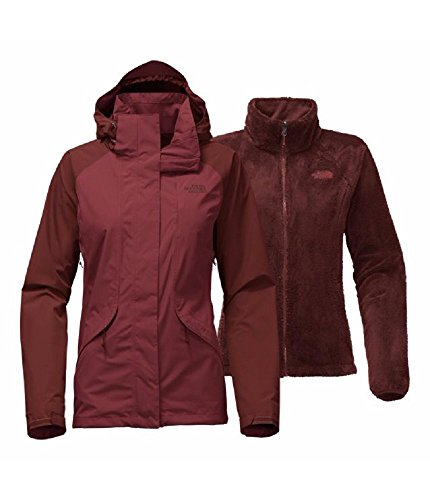 The North Face Women's Boundary Triclimate Jacket - Barolo Red/Sequoia Red - M (Past Season) by The North Face