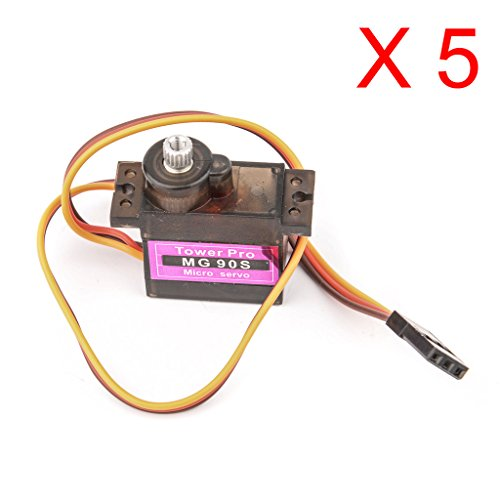 DAOKI 5PCS MG90S Metal Gear RC Speed Torque Micro Servo 9G for Trex Align 450 RC Heli