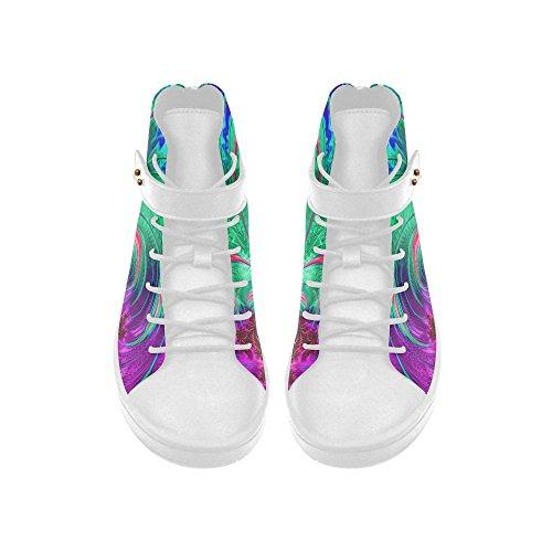 D-histoire Bout Rond Haut Haut Chaussures Modèle Arts Femmes Baskets