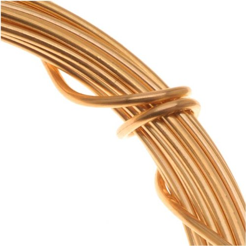 Gold Plated German Bead Craft Wire 18 Gauge 1.0 Dia 4 Meters 42637