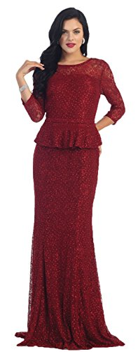76c53b1aafb May Queen MQ1265 3 4 Sleeve Mother Of The Bride Dress (5XL