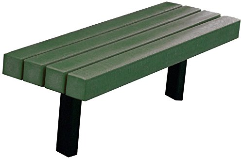 Frog Furnishings Trailside In-Ground Bench, 4', Green