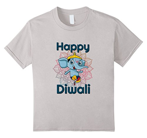Kids Happy Diwali Gift Hindu Festival T-shirt 4 Silver by Unknown