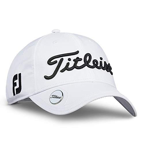 Titleist Women's Golf Hats (Tour Visor, Tour Performance Cap) (Women's Tour Performance Ball Marker, White/Black)
