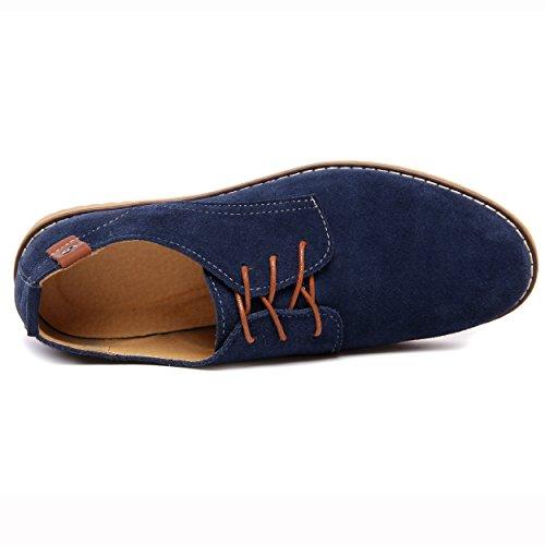 Scarpe Blu Uomo Scarpe ZhuiKun Stringate Comfort Basse Derby 1vx0d
