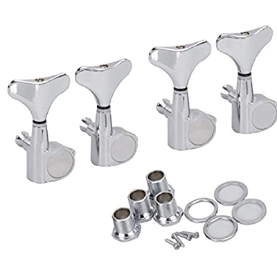 PIXNOR 4R Bass Tuners Machine Heads Tuning Pegs (Silver) from PIXNOR