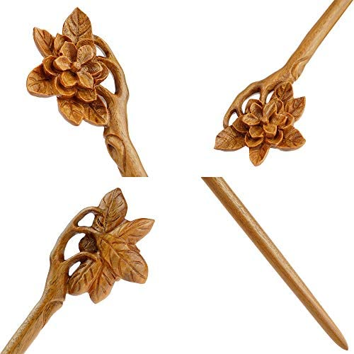 Details about  /Natural Hand-carved Wooden Hair Stick Palo Santo Hair Pin Wood Hair Accessories