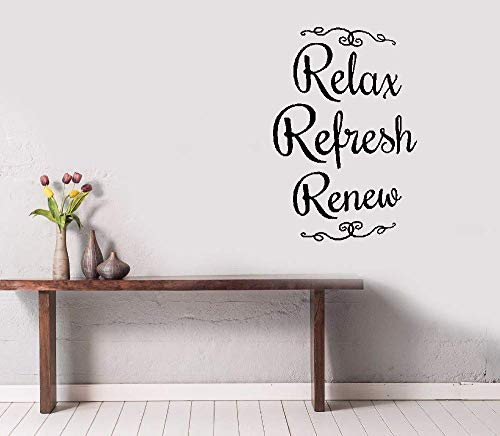 Wall Stickers Decals Art Words Sayings Removable Lettering Relax Refresh -