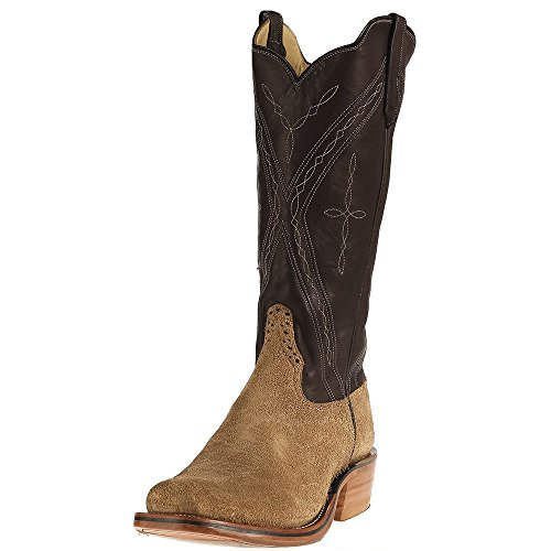Rios Of Mercedes Mens Ride Ready Crazy Horse Roughout Chocolate Remuda Top Boots 10.5 D Tan