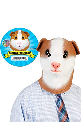 SUPERCOS Halloween Guinea Squirrel Hamster Full Face Mask Animal Latex Masks Cosplay Props Adult ()