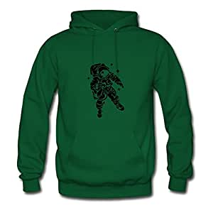 Astronaut X-large Style Personality Women Organic Cotton Green Hoodies
