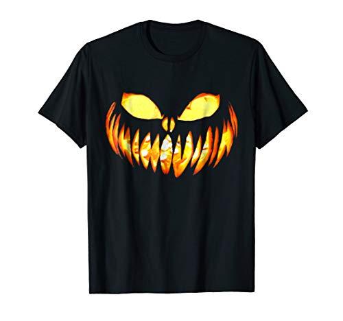 Scary Pumpkin Face for Halloween TEE