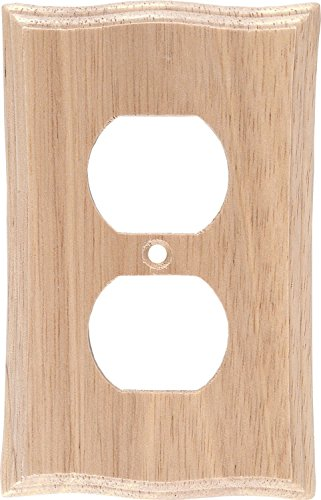 GE 51148 Light Wood Duplex Receptacle Wall Plate, 5-PACK by GE
