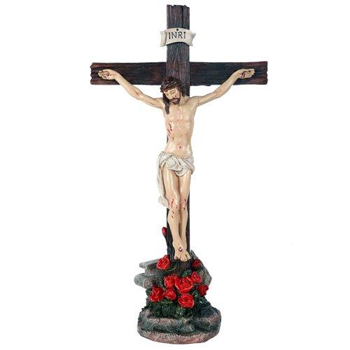 Crucifix Jesus on Cross Catholic Religious Collectible Tabletop Decor Gift 15 inch (Cross Jesus)