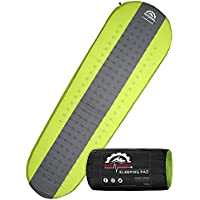 Gear Doctors Self Inflating Sleeping Pad - 4.3 R Four Season Camping pad-1.5 Inch Thick Air Foam Hybrid- Perfect Size…