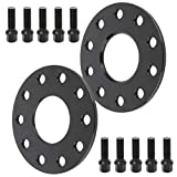 ECCPP Wheel Spacer for Porsche 5 Lug Wheel Spacers 5x130 2X 7mm 5x130mm fits for Porsche 911 Boxster Cayenne Panamera Cayman with 14x1.5 Studs