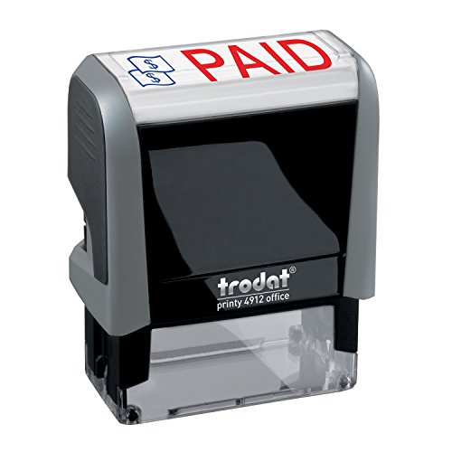 - Paid Trodat Printy 4912 Self-Inking Two Color Stock Message Stamp