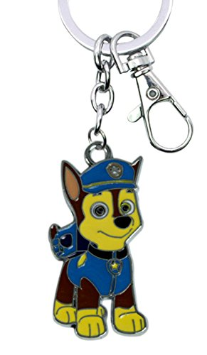 Nickelodeons PAW Patrol Chase Keychain Key Ring Cartoons TV Comics Movies Superhero Theme Premium Quality Detailed Cosplay Jewelry Gift Series