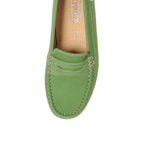 Mephisto AXENA piel Mocasín de la mujer Slip On Shoe A192() Verde