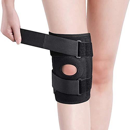 Soporte para rodilleras: ACL, LCL, MCL, desgarro de menisco, artritis, dolor de tendinitis. Patella abierta Estabilizadores dobles Neopreno confort antideslizante. Correas bidireccionales ajustables