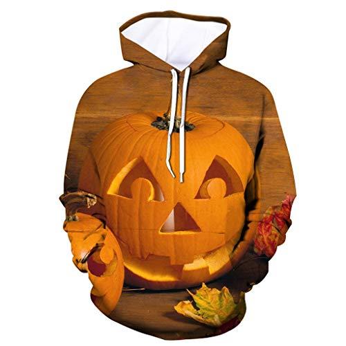 Cool Pumpkin Ideas For Halloween (wuliLINL Men 3D Printed Hoodies Pullover Halloween Pumpkin Sweatshirts Hoody Tops Blouse with)