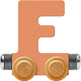 product image for Maple Landmark NameTrain Pastel Letter Car F - Made in USA (Orange)