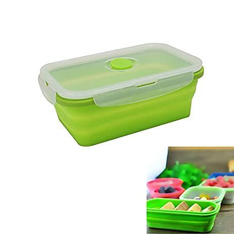Charmant Silicone Collapsible Portable Lunch Box Bowl Bento Boxes Folding Food  Storage Container Lunchbox For Outdoor Travel