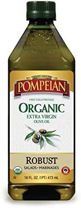 Pompeian USDA Organic Extra Virgin Olive Oil, First Cold Pressed, Full-Bodied Flavor, Perfect for Vinaigrettes