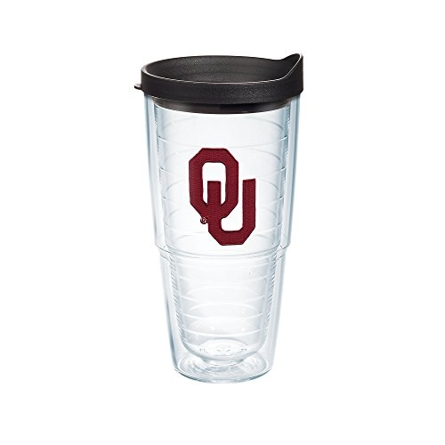 Tervis 1042257 Oklahoma Sooners Logo Tumbler with Emblem and Black Lid 24oz, - Logos Oklahoma Sooners