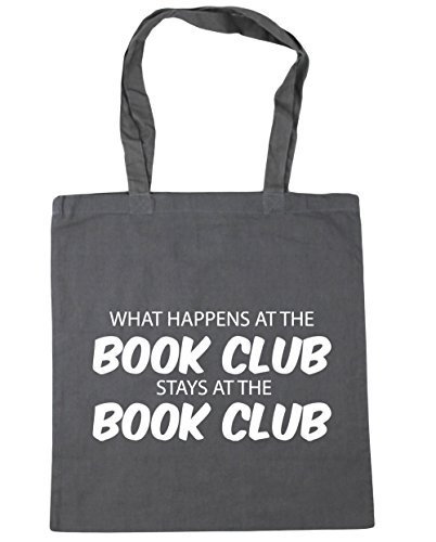 litres 10 club book Grey Bag x38cm What at Gym Tote at the 42cm Beach book HippoWarehouse happens Shopping the stays club Graphite UwHxq