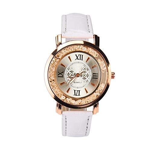 (Women Fashion Diamonds Watch Analog Quartz Vogue Watches,Outsta Birthday Lover Gift Spring Deals! Round Case Wristwatches Hot! (White))