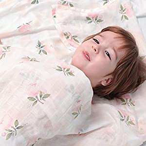 1PC Muslin Baby Blanket Cartoon Print Cotton Blanket Baby Shower Gifts Soft and Silky Baby Nursing Cover Ideal Newborn…