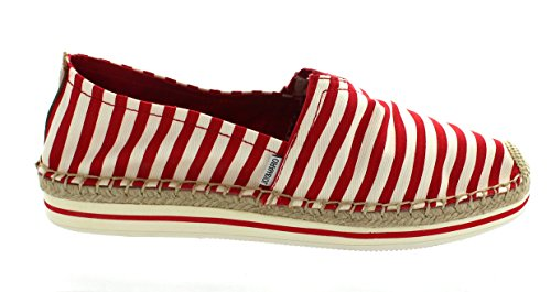 Red Women's MARIO Leather Variations Bundle Slip JOY and 36 Hemp Flats Loafers 51002W Canvas Casual Shoes On Comfort Espadrille 1nEvvUqx5