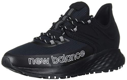 New Balance Women's Roav Trail V1 Fresh Foam Running Shoe, Black/White, 6 B US