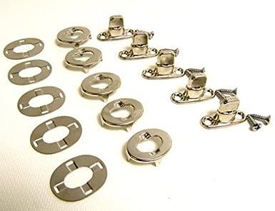 Eyelet /& Turn Stud w// Screws Double Height 10 Pc Turn Button Fastener
