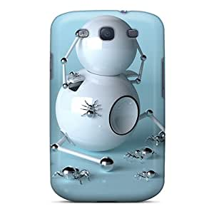 Archerapp48a8 Snap On Hard Cases Covers Spider Bots 3d Protector For Galaxy S3