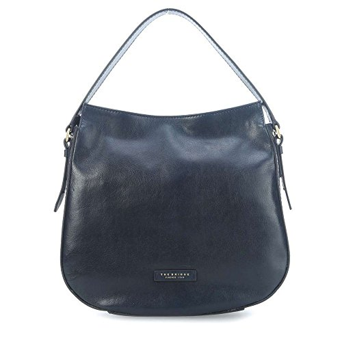 Borsa sacca The Bridge Florentin in pelle navy, blau