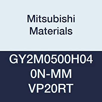 H Seat 0.197 Grooving Width 0.016 Corner Radius Mitsubishi Materials GY2M0500H040N-MM VP20RT GY Series Carbide Grooving Insert for Multifunctional and Medium Feeds 2 Teeth Pack of 10