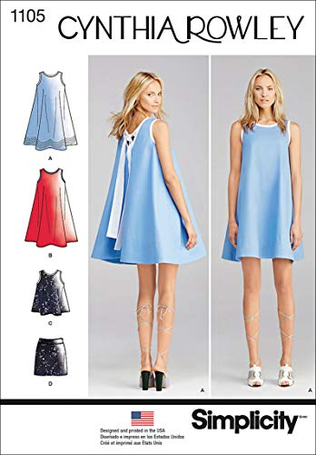 (Simplicity 1105 Women's Dress, Top, and Skirt Sewing Pattern by Cynthia Rowley, Sizes)