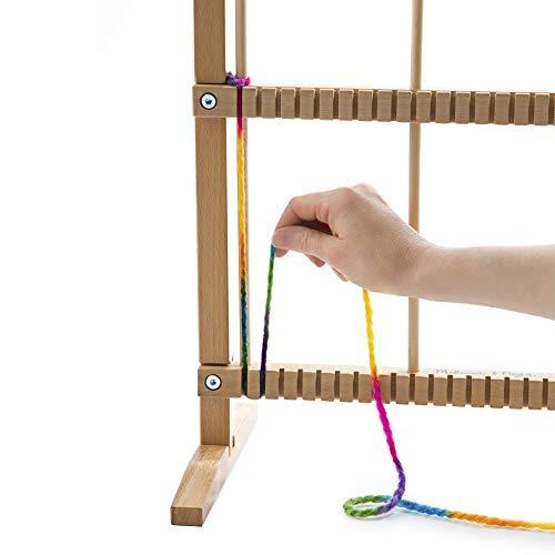 "412jRu3EqEL - Melissa & Doug Wooden Multi-Craft Weaving Loom, Arts & Crafts, Extra-Large Frame, Develops Creativity and Motor Skills, 16.5"" H x 22.75"" W x 9.5"" L"