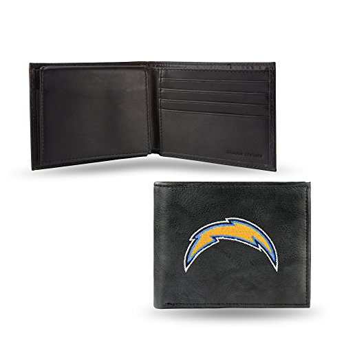 NFL Los Angeles Chargers Embroidered Leather Billfold - Chargers Football San Leather Diego
