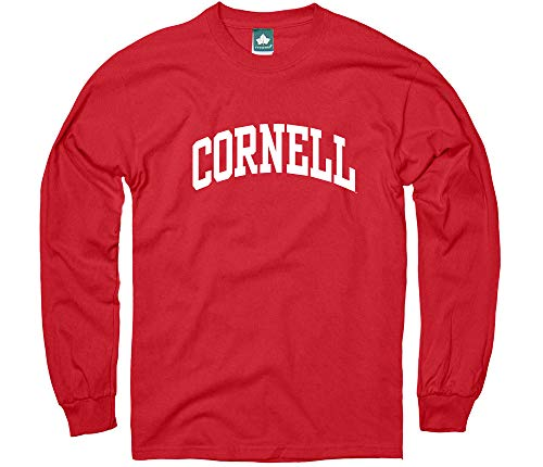 Ivysport Cornell University Long-Sleeve T-Shirt, Classic, Red, Medium (Cornell Vintage Apparel)