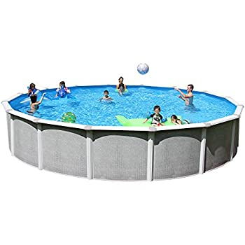Splash Pools Round Deluxe Pool Package 24 Feet By 52 Inch Swimming Pools