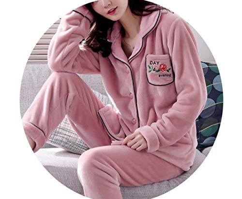 Otoño E Winter Velvet Coral Female Mmings Suit Flannel B F large Xx Sweet color Cute Service Plus Size Pijamas Home Invierno Thickening Mujer q0wppaIxt