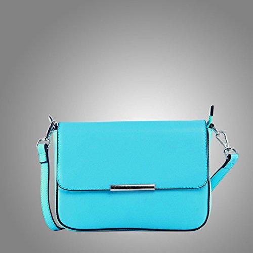 Vintage Ropa De Mujeres De Doble Hoja Mini Cross Body Bag Multicolor Blue
