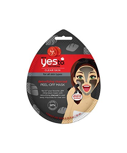 Yes To Tomatoes Detoxifying Charcoal Peel-Off Mask - Single Use   For All Skin...