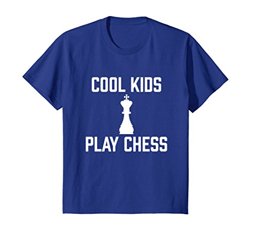 Kids Cool Kids Play Chess - National Chess Day Chess Pieces Tee 8 Royal Blue
