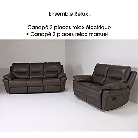 Divano 3 Posti 2 Relax.Canape En Ligne Divano 2 E 3 Coperti Relax Bibi 2 Relax Pelle