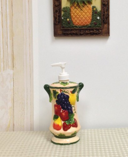 Ceramic Mix Fruit - 3-D MIxed Fruit Ceramic Soap Lotion Dispenser, 87088 by ACK
