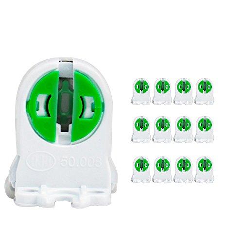 T5 Bi-Pin Lamp Holder Lamp Socket T5 Tube Lamp Holder Tombstone Tube Accessory Lamp Aging Test, Fluorescent Lampholder